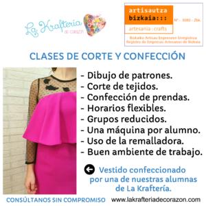 Clases corte y confección Bilbao