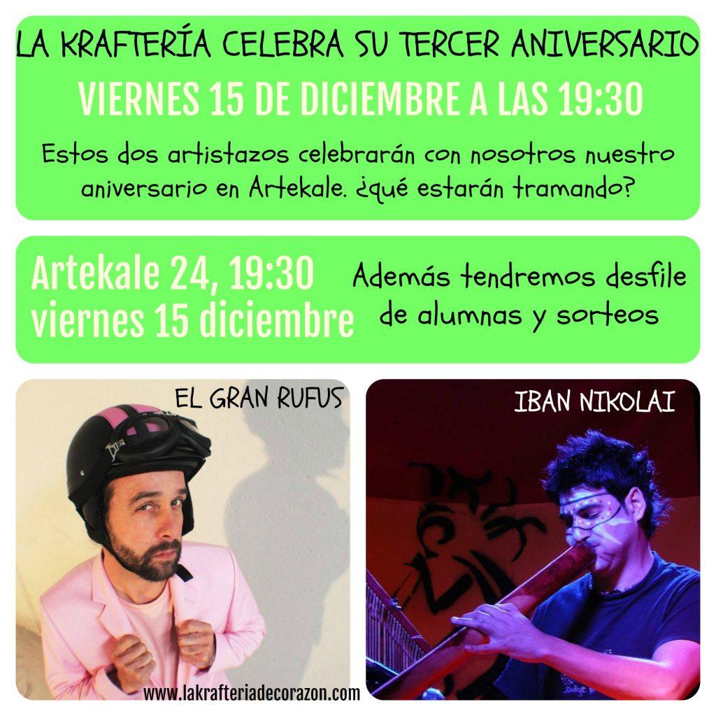 Kraftería Bilbao Celebra su tercer Aniversario