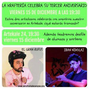 Kraftería Bilbao Celebra Tercer Aniversario